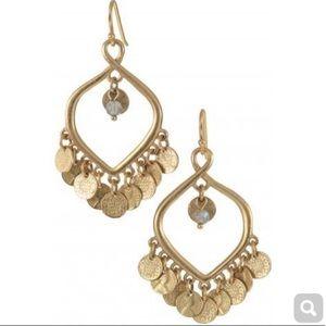 Stella & Dot Rio Gold Chandelier Coin Earrings